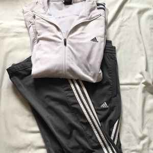 Adidas Grey & White Track Suit, size XL